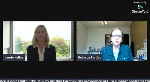 Providence PPE & COVID19 Update from Becca Bartles Facebook Live