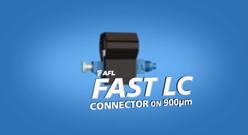 Instructions for AFL FAST LC Connector on 900um fiber cable.