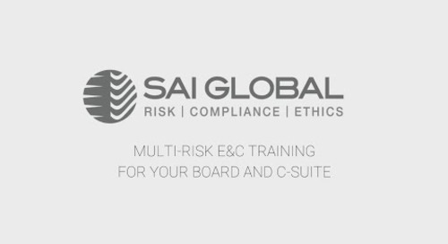 Board of Director and C-Suite Ethics and Compliance Training with SAI Global