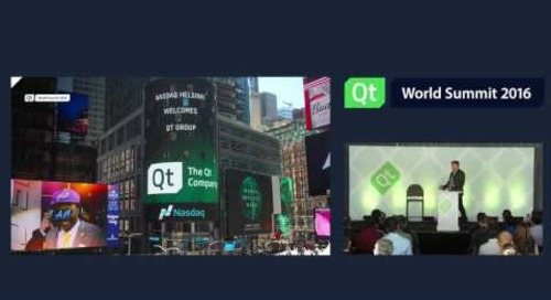 QtWS16- Welcome to Qt World Summit 2016 by Juha Varelius, CEO, The Qt Company
