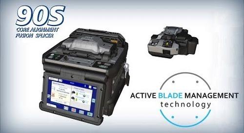 Fujikura 90S Core Alignment Fusion Splicer w/ Active Blade Management