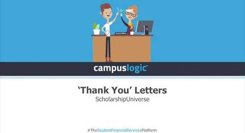 ScholarshipUniverse  | Thank You Letters