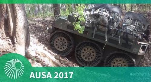AUSA 2017: HDT's Hunter WOLF Squad Mission Equipment Transport