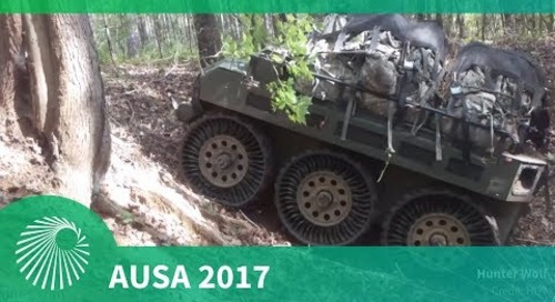 AUSA 2017: HDT's Hunter WOLF Squad Mission Equipment Transport