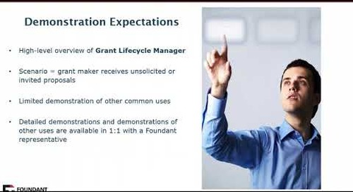 Grant Lifecycle Manager (GLM) Demonstration Recording