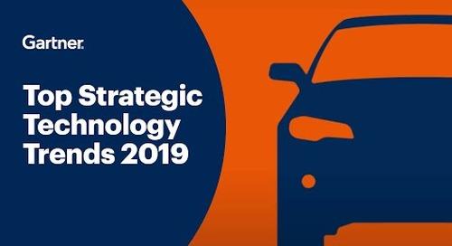 Gartner Top 10 Strategic Technology Trends 2019