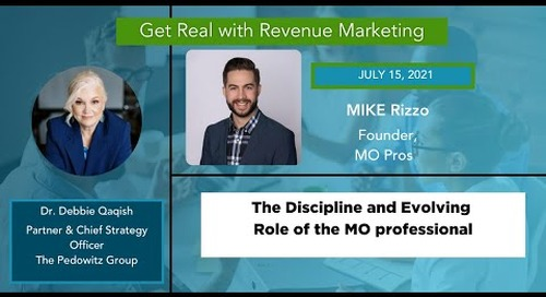 Evolution of the Marketing Ops Professional with Mike Rizzo, Founder of MO Pros