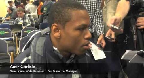 Amir Carlisle - Post Game - Notre Dame vs. Michigan