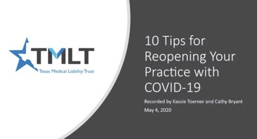 10 tips for re-opening your practice during COVID-19