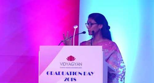 Ms. Roshni Nadar Malhotra   VidyaGyan Graduation Day 2018