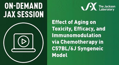 Aging Effect on Toxicity, Efficacy, & Immunomodulation via Chemotherapy in C57BL/6J Syngeneic Model