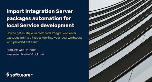 Import Integration Server packages automation for local Service Development