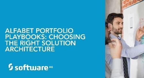 Alfabet Portfolio Playbooks: Choosing the Right Solution Architecture
