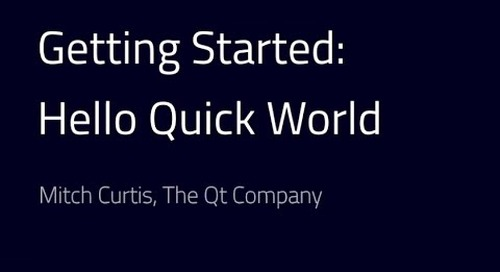 Getting started with Qt: Hello Quick World