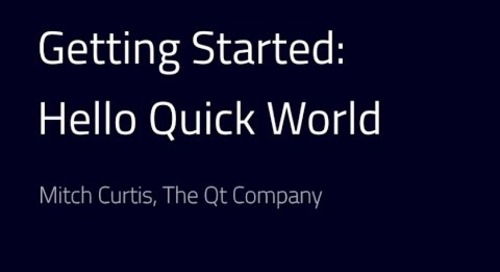 Get started with Qt Quick