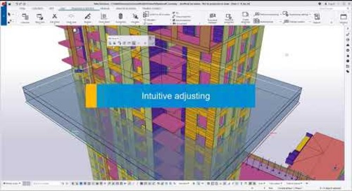 Easy visualization and editing of drawing views (precast) - Tekla Structures 2020