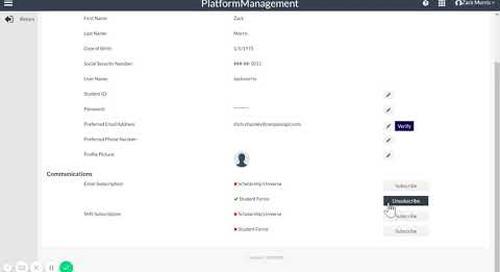 Student & School User Profile Change