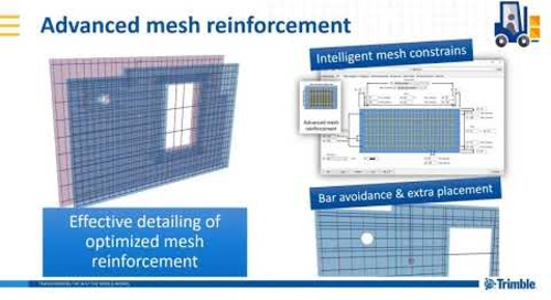 Advanced Mesh Reinforcement - Extension (Tekla Structures 2019i)
