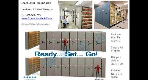 Space Saver Floating Mobile Aisle Shelving Systems