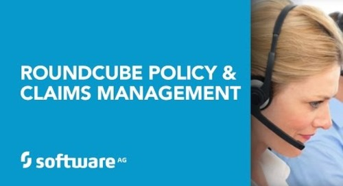 Roundcube Policy & Claims Management Powered by Software AG