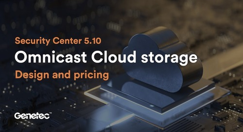 Feature spotlight : Omnicast Cloud storage – design and pricing