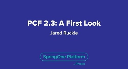 Pivotal Cloud Foundry 2.3: A First Look