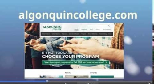 It is not too Late to Apply to Algonquin College