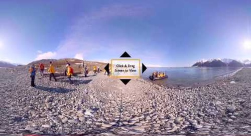 Experience Life on a Shore Landing in Spitsbergen in 360° VR