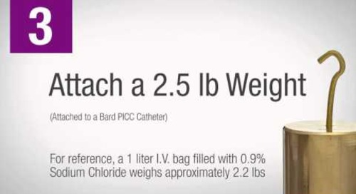 3M™ PICC/CVC Securement Device + Tegaderm™ I.V. Advanced Dressing Comparison: 3M vs. StatLock®