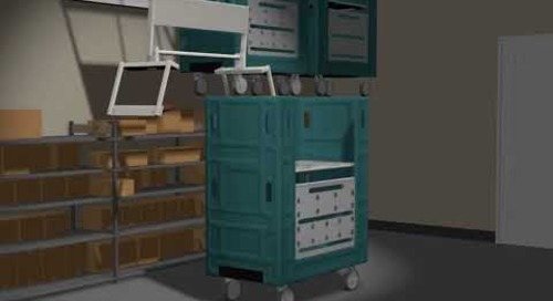 Overhead Wall Mounted Lifts Automatic Cart Storage