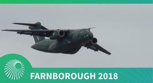 Farnborough 2018: Embraer KC-390 flying display