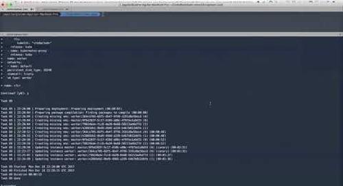 Deploying Kubernetes on vSphere with Bosh
