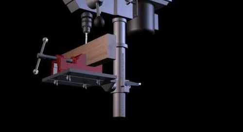 Inventor Studio - Video Producer - Drill Press Assembly