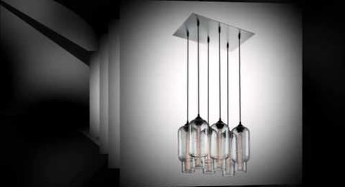 Pack 6 Modern Chandeliers by Niche - Modern Multi-Pendant Lighting