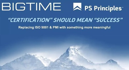 """""""Certification"""" Should Mean """"Success"""" - Replacing ISO 9001 & PMI"""