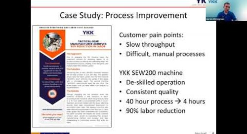 6 Ways to Increase Productivity and Reduce Costs in Your Manufacturing Operation - from YKK