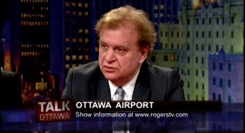 Martin Taller talks tourism and the Ottawa Airport on Talk Ottawa (Rogers TV)