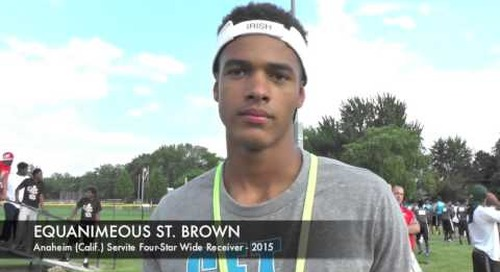 Equanimeous St. Brown Talks Irish At Detroit SMSB Camp