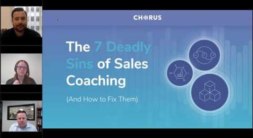 The 7 Deadly Sins of Sales Coaching And How to Fix Them