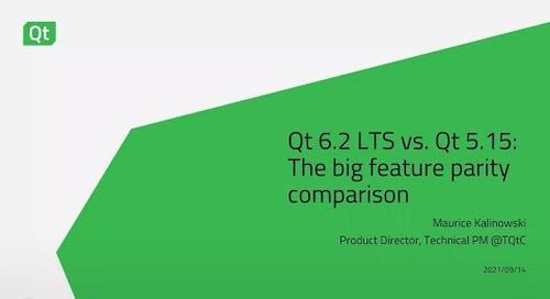 Qt 6.2 LTS vs. Qt 5.15: The big feature parity comparison {On-demand webinar}