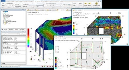 Rigorous Slab Deflection in Tekla Structural Designer