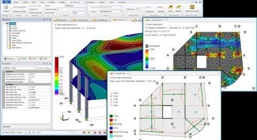 Rigorous Slab Deflection in Tekla Structural Designer