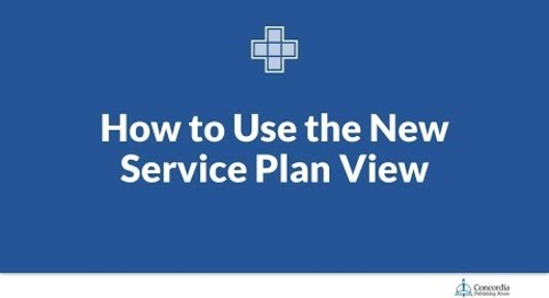 How to Use the New Service Plan View