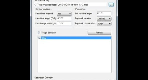 Tekla Structures NC File Updater