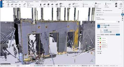Enhanced point cloud visualization including clash checking (precast) - Tekla Structures 2020