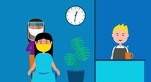 COVID-19 & le retour au travail: Travailler avec soin services personnels