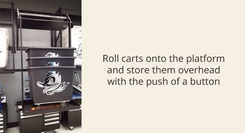 Wall Mounted Laundry Cart Automatic Lift Storage Platform