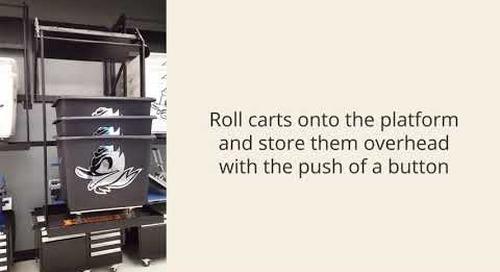 Wall Mounted Laundry Cart Automatic Lift Storage Platform