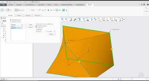 Creating Creo Parametric Blends