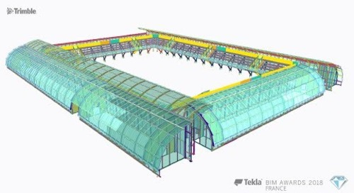 Tekla France BIM Awards 2018 - VIRY : Modernisation du stade Roland Garros, court de serres